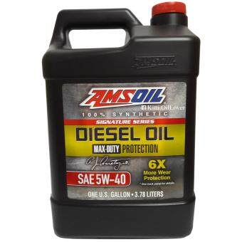 Amsoil 100% Synthetic Signature Series API CK-4 Diesel Oil 5W-40Max-Duty น้ำมันเครื่องสังเคราะห์แท้ 100% สำหรับเครื่องยนต์ดีเซล(3.78 ลิตร)