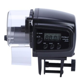 Automatic Fish Feeder Aquarium Tank Pond Auto Timer Food Feeder (Black) - intl