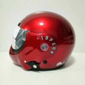 อยากขาย AVEX หมวกกันน็อคเต็มใบ รุ่นTOPGUN สีแดงบรอน แว่นดำ