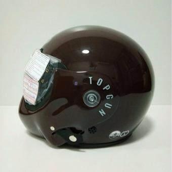 AVEX หมวกกันน็อคเต็มใบ รุ่นTOPGUN สีนำ้ตาลเงา แว่นดำ