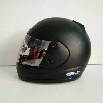 AVEX หมวกกันน็อคเต็มใบ รุ่นXR ล้วน สีดำด้าน แว่นปรอทตะกั่ว