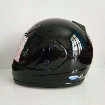 AVEX หมวกกันน็อคเต็มใบ รุ่นXR ล้วน สีดำเงา แว่นดำ