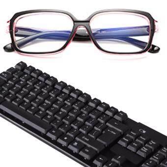 B2K แว่นตากรองแสง แว่นกันแสงคอมพิวเตอร์ แว่นตัดแสงคอมพิวเตอร์ แว่นถนอมสายตา เลนส์ถนอมสายตา กรอบแว่นแฟชั่นเกาหลี พร้อมกล่องใส่ และผ้าเช็ดเลนส์