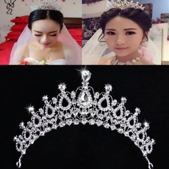 Beauty Pageant Queen Rhinestone Bridal Wedding Prom Tiara CombCrown Fashion USA Silver - intl - 3