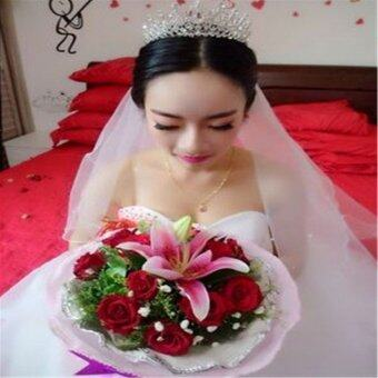 Beauty Pageant Queen Rhinestone Bridal Wedding Prom Tiara CombCrown Fashion USA Silver - intl - 4
