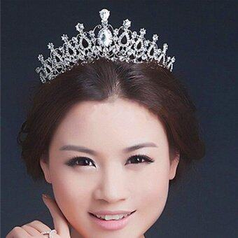 Beauty Pageant Queen Rhinestone Bridal Wedding Prom Tiara CombCrown Fashion USA Silver - intl - 5