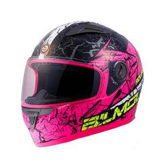 BILMOLA หมวกกันน็อก หมวกกันน็อค หมวกกันน๊อก หมวกกันน๊อค BILMOLA ECLIPSE สีชมพู Hard Fuxia (Big Bike and motorcycle Helmet)