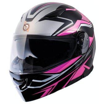 หมวกกันน็อก หมวกกันน็อค หมวกกันน๊อก หมวกกันน๊อค BILMOLA ExplorerR สี Pink ชมพู (Big Bike and motorcycle Helmet)