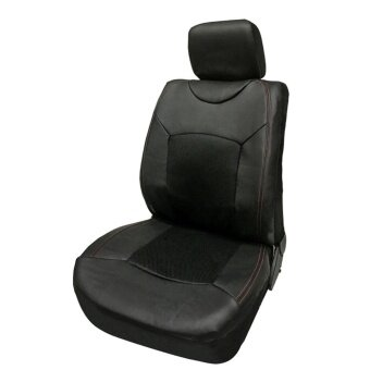 Black Universal Auto Seat Cover Car Front Single Seat Cover - intl
