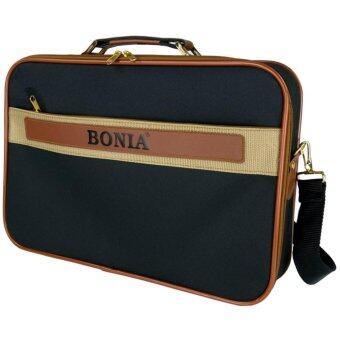 BONIA กระเป๋าสะพายไหล่ กระเป๋าถือ กระเป๋าใส่เอกสาร กระเป๋าทรงแมสเซนเจอร์ ขนาด 16 นิ้ว รุ่น 462116 (Black)