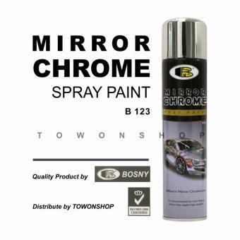 Bosny บอสนี่ สีสเปรย์ โครเมี่ยม กระจกเงา Mirror Chrome Spray 270cc
