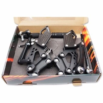 BOUSHI เกียร์โยง (CNC) สำหรับ NINJA-250/300/Z250 สีดำ - 2