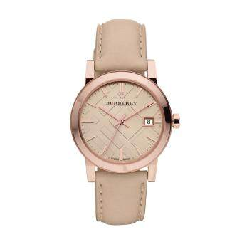Harga Burberry Women's Watch Beige Leather Strap BU9109(Black)