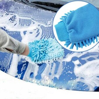 Car Microfiber Truck Cleaning Wash washing Mitten Cloth Mitt Brush Gloves - intl