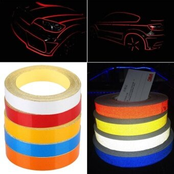 Car Motorcycle Reflective Strip Night Safety Warning Tape StickerDIY 1CMx5M - intl