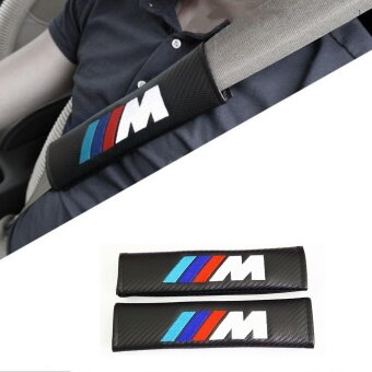 Harga Car Styling Seat Belt Shoulder Pad Carbon Fiber PU Leather ///M forBMW X1 X3 X4 X5 X6 1series 3series 5series 7series M1 M3 M5 - intl