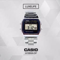 นาฬิกาข้อมือ Casio รุ่น A158WA-1DF  นาฬิกาข้อมือผู้ชาย สีเงิน สายสเตนเลส