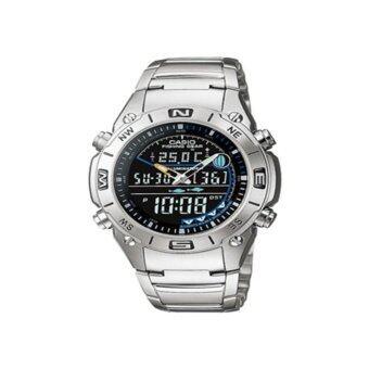 นาฬิกาข้อมือสำหรับผู้ชาย Casio รุ่น AMW-703D-1AVDF (สีเงิน/ดำ)