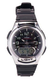 Casio นาฬิกาข้อมือชาย รุ่น AQ-180W-1BVDF-Black/Silver