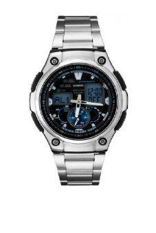 Casio นาฬิกาข้อมือผู้ชาย สีเงิน สายสเเตนเลส รุ่น AQ-190WD-1AVDF