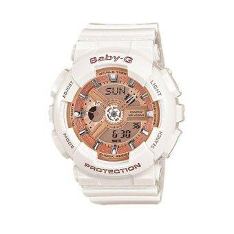 Casio baby-g นาฬิกาข้อมือ - รุ่น BA-110-7A1DR สีขาว (White)