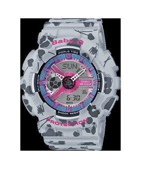 ซื้อ/ขาย Casio baby-g นาฬิกาข้อมือผู้หญิง สีเทา สายเรซิ่น รุ่น BA-110FL-8