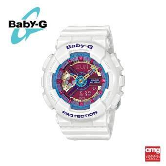 ราคา Casio Baby-G นาฬิกา BA-112-7ADR ประกันศูนย์ CMG (White)