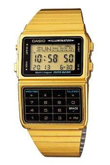Casio นาฬิกาข้อมือผู้ชาย สายสแตนเลส รุ่น DBC-611G-1DF - Gold