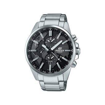 2561 Casio Edifice นาฬิกาข้อมือผู้ชาย สายสแตนเลส รุ่น ETD-300D-1AVUDF /หน้าปัดคู่แสดงเวลารอบโลก)ประกันCMG