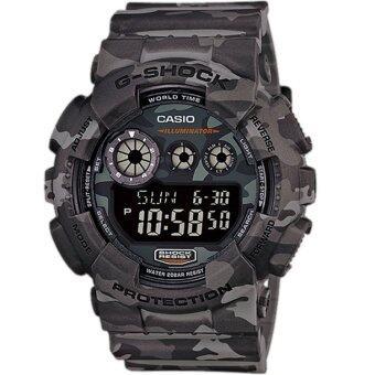 Casio G-Shock นาฬิกาข้อมือผู้ชาย สีเทา ลายพราง CAMO สายเรซิ่น รุ่นGD-120CM-8