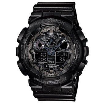 ซื้อ/ขาย CASIO G-SHOCK CAMOUFLAGE SERIES นาฬิกาข้อมือผู้ชาย รุ่น GA-100CF-1A (สีดำ)