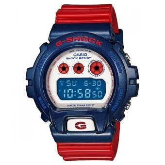 Casio G-Shock นาฬิกาข้อมือผู้ชาย สีแดง/น้ำเงิน สายเรซิ่น รุ่น DW-6900AC-2