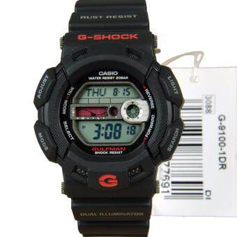 2561 Casio G-Shock นาฬิกาข้อมือผู้ชาย สายเรซิ่น รุ่น G-9100-1DR - Black