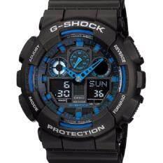 Casio G-Shock นาฬิกาข้อผู้ชาย สายเรซิน รุ่น GA-100-1A2DR - สีดำ