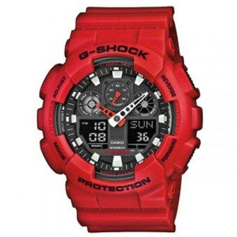 Casio G-Shock GA-100B-4 สีแดง(free size)