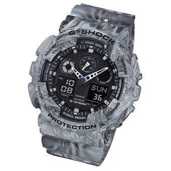 Casio G-shock นาฬิกาข้อมือผู้ชาย รุ่น GA-100MM-8ADR (grey)