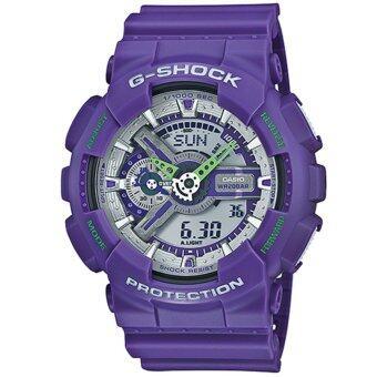 Casio G-Shock นาฬิกาข้อมือผู้ชาย สายเรซิ่น รุ่น GA-110DN-6A - สีม่วง