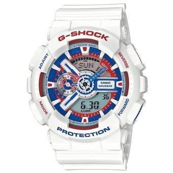 ซื้อ/ขาย Casio G-Shock นาฬิกาข้อมือผู้ชาย สีขาว สายเรซิ่น รุ่น GA-110TR-7A