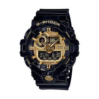 Casio G-Shock นาฬิกาข้อมือผู้ชาย รุ่น GA-710GB-1ADR (สีดำ/ทอง)