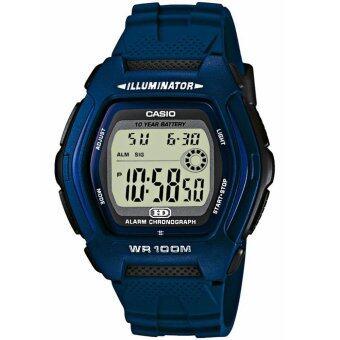 Casio นาฬิกาข้อมือชาย สายเรซิ่น รุ่น HDD-600C-2AV - สีน้ำเงิน