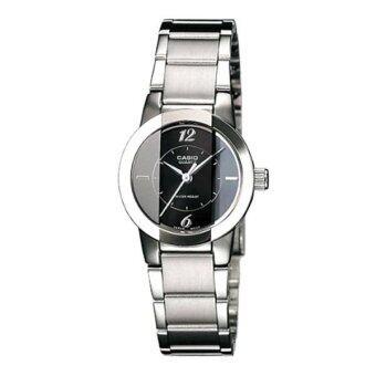 CASIO นาฬิกาข้อมือผู้หญิง สีเงิน สายสแตนเลส รุ่น LTP-1230D-1CDF