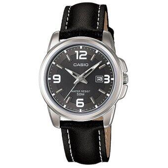 รีวิว CASIO นาฬิกาผู้หญิง สายหนัง LTP-1314L-8AVDF - Black/Black