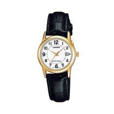 Casio นาฬิกาข้อมือผู้หญิง รุ่น LTP-V002GL-7BUDF (สีดำ)