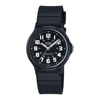 Casio นาฬิกาข้อมือผู้ชายระบบเข็ม-สีดำ-ขาว รุ่น MQ-71-1BDF-black