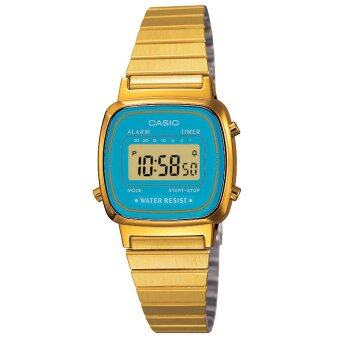 Casio Stainless Steel Band Watch (Gold) LA670WGA-2