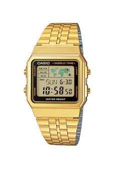 Casio Standard นาฬิกาข้อมือสุภาพสตรี สายสแตนเลส รุ่น A500WGA-1 - Gold ...