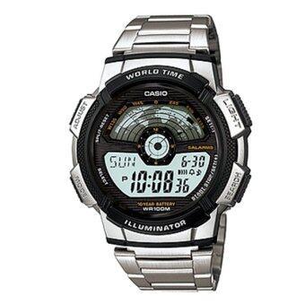 ราคา Casio Standard นาฬิกาข้อมือผู้ชาย สายสเตนเลส รุ่น AE-1100WD-1A