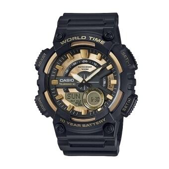 Casio Standard นาฬิกาข้อมือผู้ชาย สายเรซิ่น AEQ-110BW-9AV