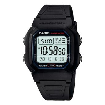 Casio Standard Digital นาฬิกาข้อมือ รุ่น W-800H-1AV - Black