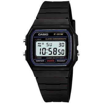 Casio Standard นาฬิกาข้อมือชาย หญิง รุ่น F-91W-1DG - Black